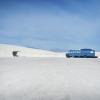 Blue Bus. White Sands NM