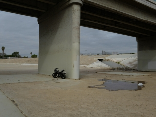 Motor Cycle. LA River