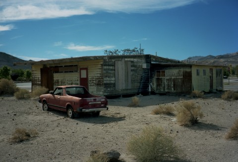 Red Truck. Beatty. NV